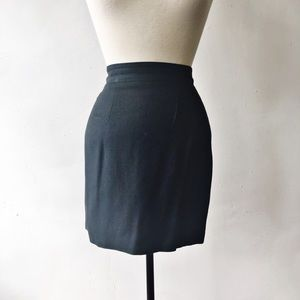 Bebe Vintage 90's Dark Green Zipper Mini Skirt